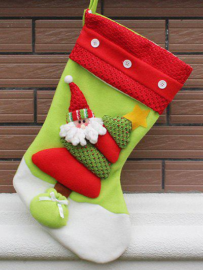 Party Decor Christmas Santa Hanging Present Stocking Bag - RED/GREEN