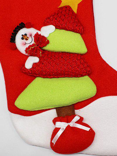 Xmas Tree Party Decor Christmas Snowman Hanging Gift Sock - RED/GREEN