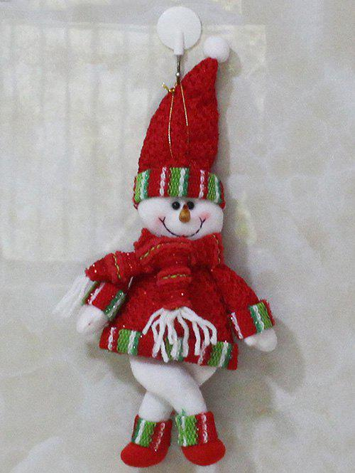 Christmas Decor Snowman Hanging Pendant Best Gift - RED