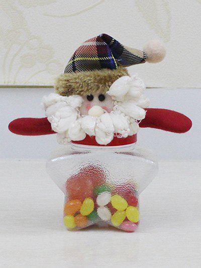 цены Christmas Plush Santa Doll Transparent Star Shape Candy Jar