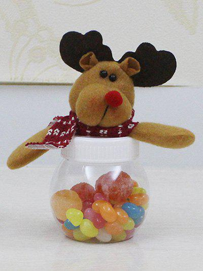 Christmas Plush Elk Doll Transparent Candy Jar - TRANSPARENT