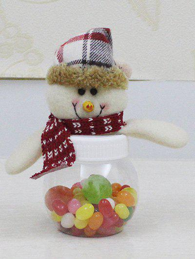 Christmas Plush Snowman Doll Transparent Candy Jar - TRANSPARENT