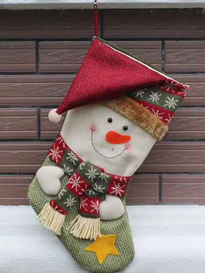 Christmas  Decor Snowman Pattern Kids Gift Sock - COLORMIX