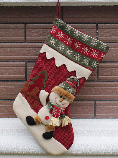 Christmas Decor Hanging Stocking Children Present Bag - RED