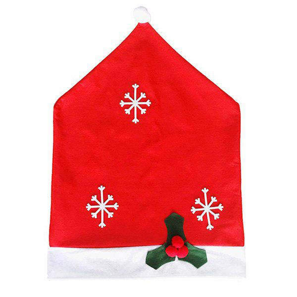 Christmas Decorations Snowflake Non-Woven Chair Covers - RED