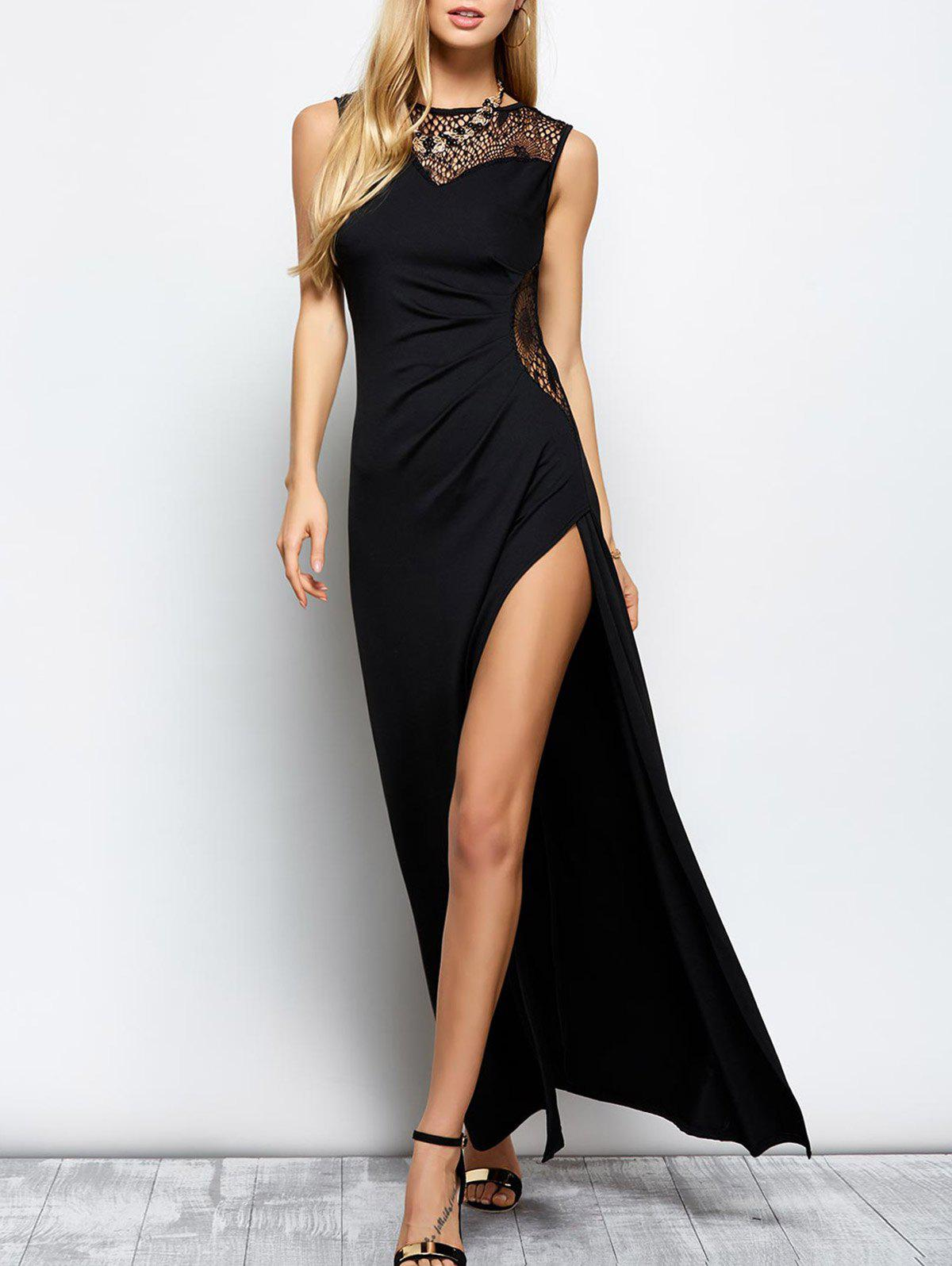 Formal Slit Openwork Maxi Evening Prom Dress туалетная вода paco rabanne туалетная вода lady million emg 80 мл