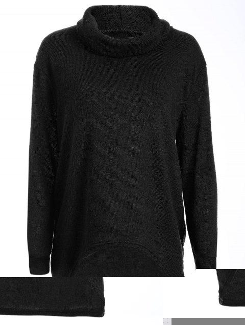 6b0dce6161b 41% OFF  2019 Turtleneck Long High Low Sweater In BLACK S ...