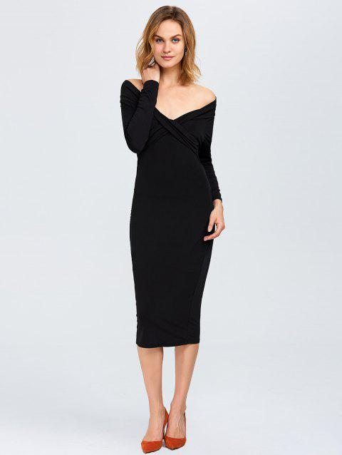 17ae5c2ae0f 2019 Robe moulante décolletée manches longues Noir XL In Robes ...