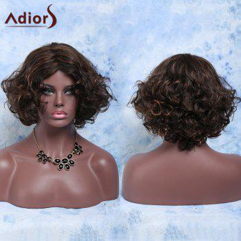 Charming Short Mixed Color Fashionable Curly Synthetic Women's Wig