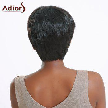 Stylish Short Heat Resistant Synthetic Straight Capless Black Wig For Women - BLACK