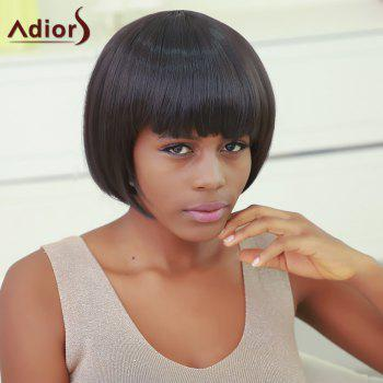 Bob Style Short Black Capless Vogue Silky Straight Synthetic Wig For Women - BLACK