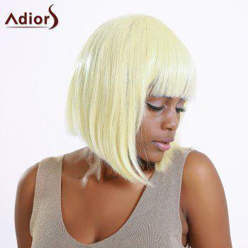 Stylish Synthetic Straight Full Bang Women's Bob Wig