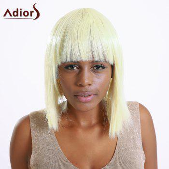 Stylish Synthetic Straight Full Bang Women's Bob Wig - LIGHT GOLD