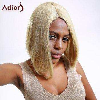 Fashion Women's Short Straight Flaxen Side Bang Synthetic Hair Wig