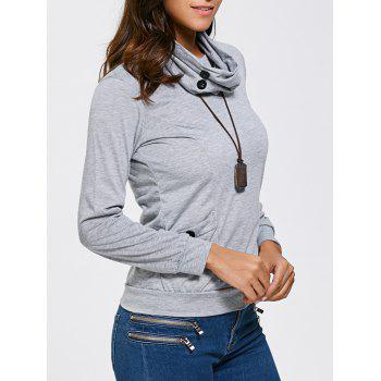 Pocket Scoop Neck Longline T Shirt with Scarf