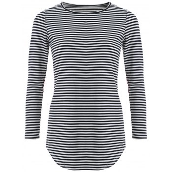 Stripe Long Sleeve Knit T-Shirt