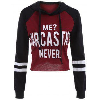 Letter Graphic Cropped Hoodie