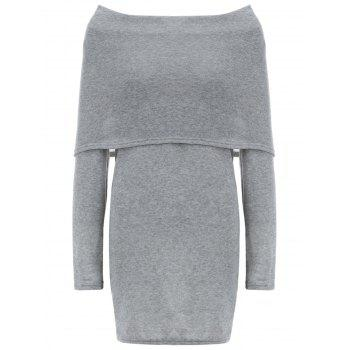 Sheath Hoodie Dress With Pocket