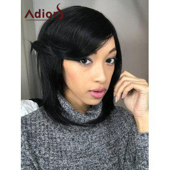 Medium Adiors Straight Side Parting Bob Synthetic Hair Wig - BLACK BLACK