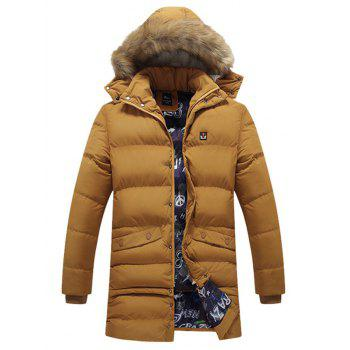 Zip Up Faux Fur Hooded Coat