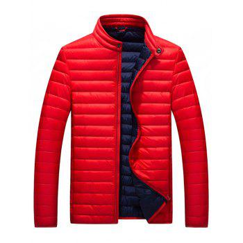 Buy Stand Collar Packable Jacket RED