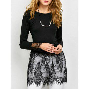 Sheer Lace Insert Tee