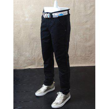 Casual Straight Leg Zipper Fly Pants
