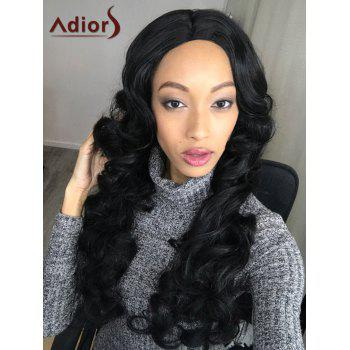 Adiors Fluffy Long Wavy Middle Parting Synthetic Wig