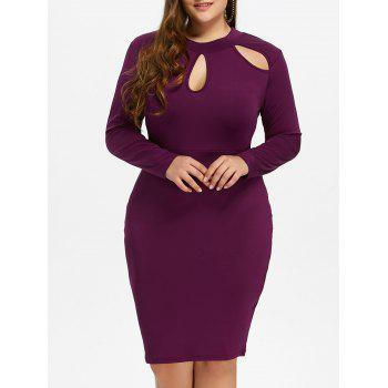 Plus Size Sheath Dress with Long Sleeves