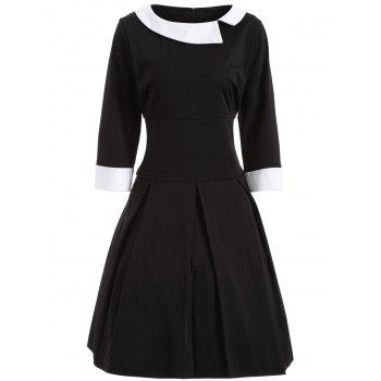 Plus Size Two Tone Vintage Dress