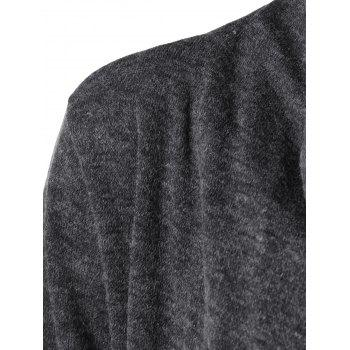 Asymmetrical Single Button Cardigan - GRAY S