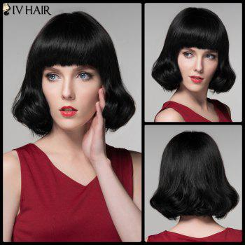 Siv Hair Retro Bob Short Neat Bang Real Natural Hair Wig