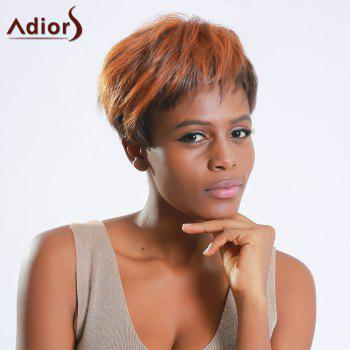 Short Adiors Hair Color Mixed Synthetic Side Bang Wig - COLORMIX