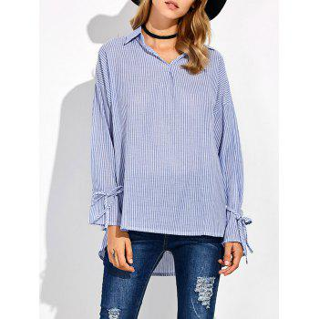 Striped High Low Pullover Shirt