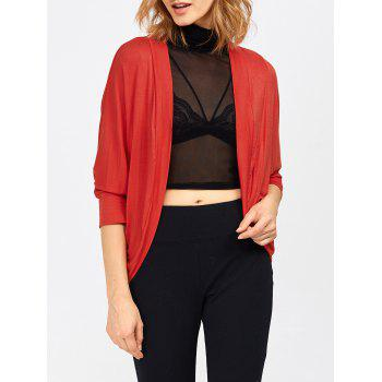 Red Short Sleeve Cardigan Cheap Casual Style Online Free Shipping ...