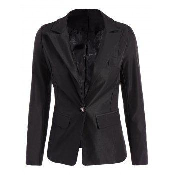 Lined One Button Blazer