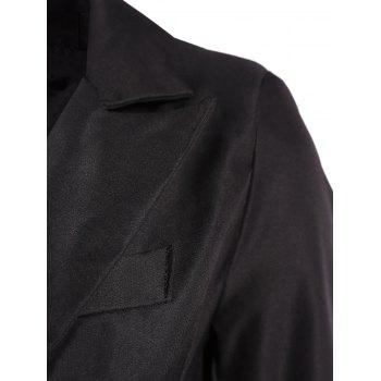 Lined One Button Blazer - BLACK BLACK