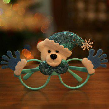 Christmas Product Bear Cartoon Glasses Frame - BLUE BLUE