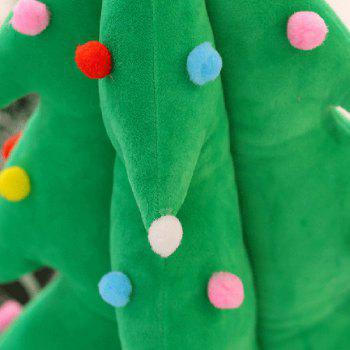 Christmas Tree Cushion Flash Plush Stuffed Doll - GREEN