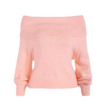 Off The Shoulder Knitting Ribbed Sweater