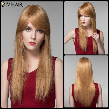 Siv Long Oblique Bang Shaggy Straight Human Hair Wig
