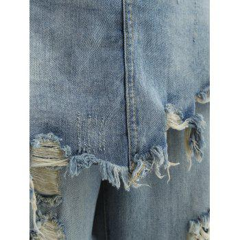 Frayed Ripped Skirted Jeans - S S