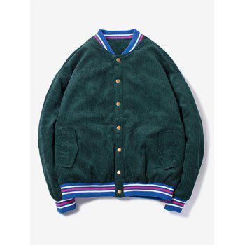 Stand Collar 95 Pattern Corduroy Jacket