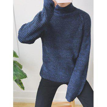 Loose Fit Raglan Sleeve Funnel Neck Sweater