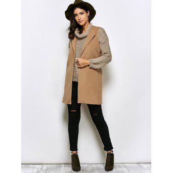 Open Front Long Double Pocket Waistcoat - S S