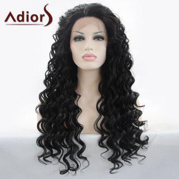 Gorgeous Long Curly Adiors Hair Lace Front Synthetic Wig