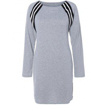 Long Sleeve Stripe Insert Dress