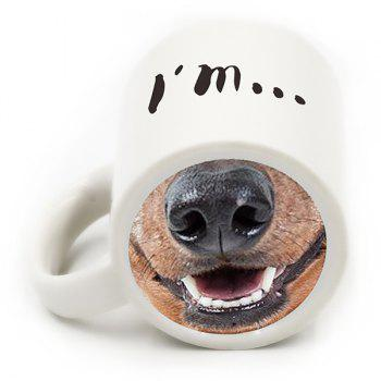 Ceramic Drinkware Cartoon Dog Nose Coffee Mug