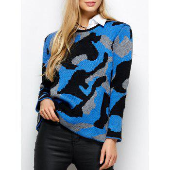 Knit Camo Pullover Sweater