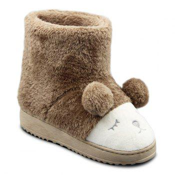 Fuzzy Cartoon Snow Boots